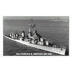 USS CLARENCE K. BRONSON Sticker (Rectangle)