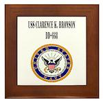 USS CLARENCE K. BRONSON Framed Tile
