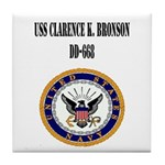 USS CLARENCE K. BRONSON Tile Coaster