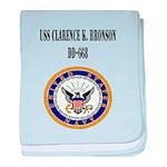 USS CLARENCE K. BRONSON baby blanket