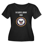 USS CLARENCE K. BRONSON Women's Plus Size Scoop Ne