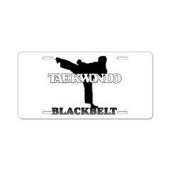 TaeKwonDo Black Belt Aluminum License Plate