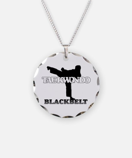 TaeKwonDo Black Belt Necklace Circle Charm