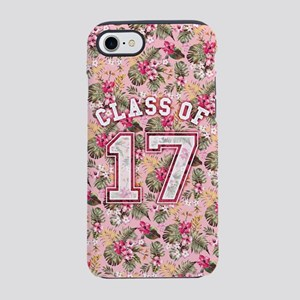 Class of 17 Floral Pink iPhone 7 Tough Case