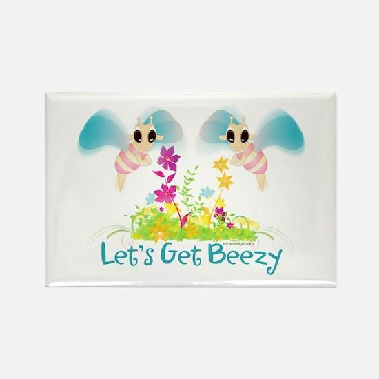 Let's Get Beezy! Rectangle Magnet