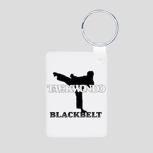 TaeKwonDo Black Belt Aluminum Photo Keychain
