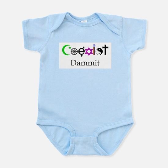 Coexist Dammit! Infant Bodysuit
