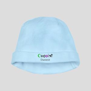 Coexist Dammit! baby hat