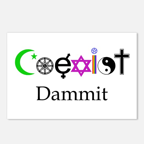 Coexist Dammit! Postcards (Package of 8)