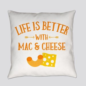 Life's Better Mac & Cheese Everyday Pillow