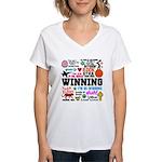 Quotes Women's V-Neck T-Shirt
