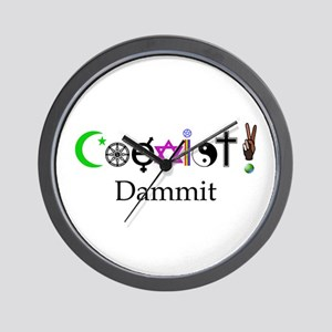 Coexist Dammit! 2 Wall Clock