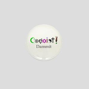 Coexist Dammit! 2 Mini Button