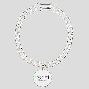 Coexist Dammit! 2 Charm Bracelet, One Charm