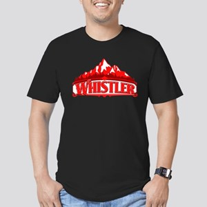 Whistler Red Mountain Men's Fitted T-Shirt (dark)