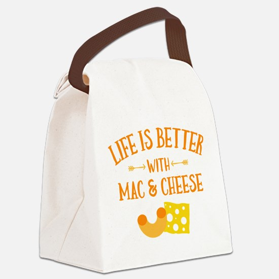 Life's Better Mac & Cheese Canvas Lunch Bag