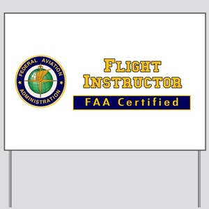 Flight Instructor Yard Sign