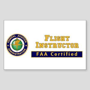 Flight Instructor Sticker (Rectangle)