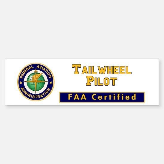 Tailwheel Pilot Sticker (Bumper)