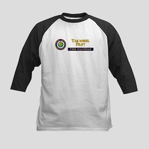 Tailwheel Pilot Kids Baseball Jersey