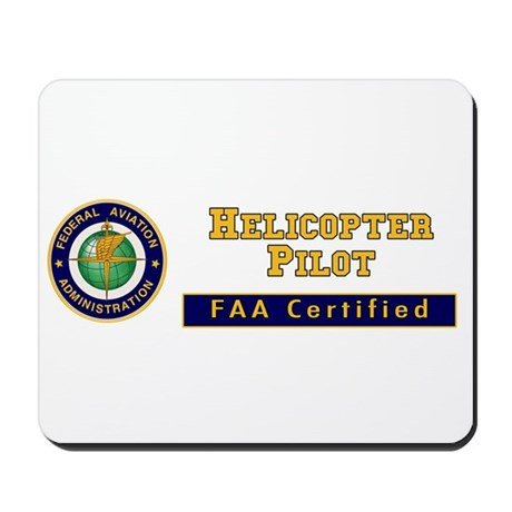 Helicopter Pilot Mousepad