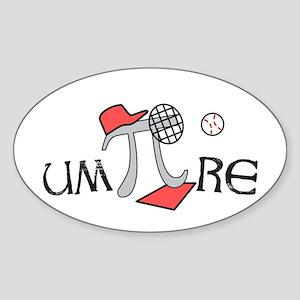 Funny um-Pi-re Sticker (Oval)