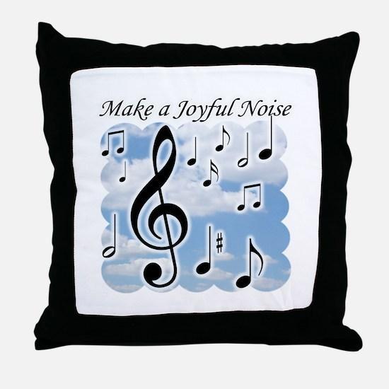 Cute Music notes Throw Pillow