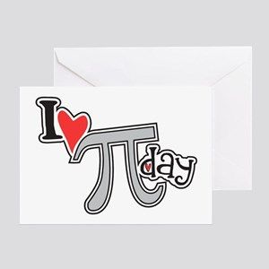 I heart (love) Pi Day Greeting Card