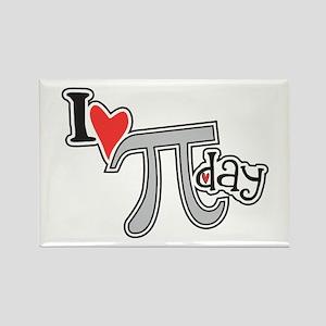 I heart (love) Pi Day Rectangle Magnet