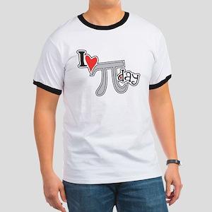 I heart (love) Pi Day Ringer T