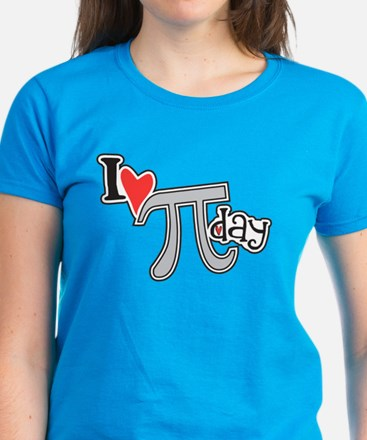 I heart (love) Pi Day Women's Dark T-Shirt