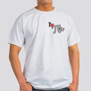 I heart (love) Pi Day Light T-Shirt