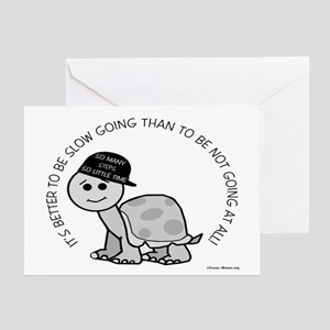 Slow Going Turtle Greeting Card