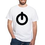 Power Button White T-Shirt