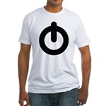 Power Button Fitted T-Shirt