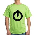Power Button Green T-Shirt