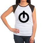 Power Button Women's Cap Sleeve T-Shirt