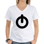 Power Button Women's V-Neck T-Shirt