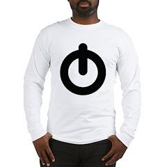Power Button Long Sleeve T-Shirt