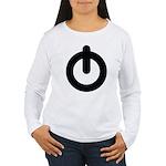 Power Button Women's Long Sleeve T-Shirt