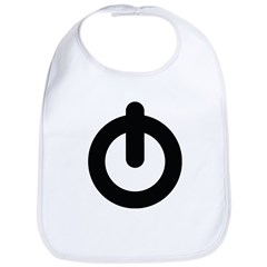 Power Button Bib
