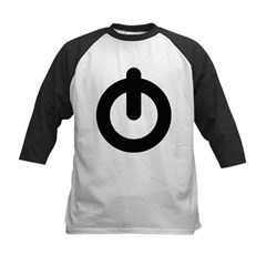 Power Button Kids Baseball Jersey
