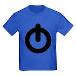 Power Button Kids Dark T-Shirt