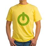 Power Button Yellow T-Shirt