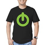 Power Button Men's Fitted T-Shirt (dark)