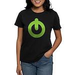 Power Button Women's Dark T-Shirt
