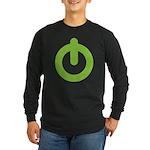 Power Button Long Sleeve Dark T-Shirt