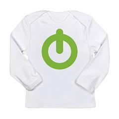 Power Button Long Sleeve Infant T-Shirt