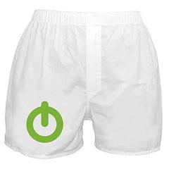 Power Button Boxer Shorts