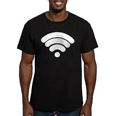 Wifi Men's Fitted T-Shirt (dark)